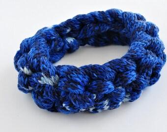 HeadBand, Knitted HeadBand, Wool HeadBand, Blue HeadBand, Braided HeadBand, Chunky Knit,Autumn Accessori , Hair Accessory, Ear Warmer
