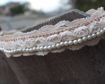 wedding headband, vintage wedding headband, rustic wedding, vintage wedding