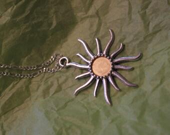 pale golden sun necklace
