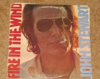 """John Stewart  """"Fire In The Wind""""  Record"""