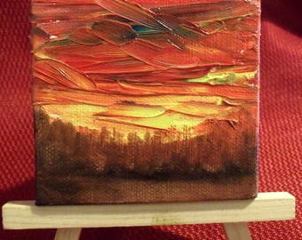 3 inch magnet back oil painting
