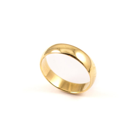 9Ct Gold Wedding Band Gold Bands Vintage Rings D Shape