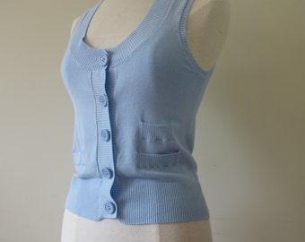 Heavenly-bleu knitted spencer
