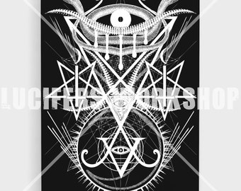 The Eye of Lucifer 16 X 20 Canvas Print