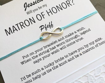 Matron of honor gift, Matron of honor proposal, Will you be my matron of honor, Matron of honor bracelet, Unique bridesmaid gifts, B1