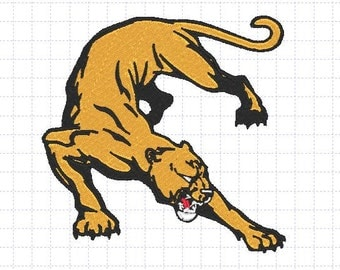 Cougar Embroidery Design 4x4,5x7 inches-Instant Download