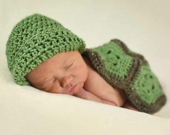 Crochet Baby Turtle Outfit, Infant Photo Prop, Newborn Picture Outfit, Baby picture outfit, Turtle Shell, Baby Gift, Turtle Costume, knit