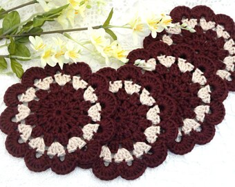 Crochet Placemat Crochet Coasters Kitchen Doilies Crochet Doily Round Placemat Home Decor Tablecloth Crochet Tablecloth Women Gift