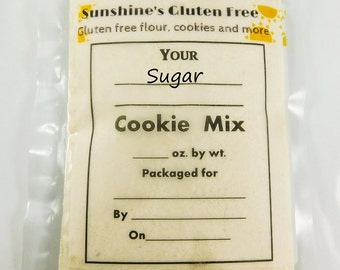 Gluten Free Sugar Cookie Mix - Homemade Gluten Free Baked Goods - Gluten Free Snacks - Holiday Desserts - Gluten Free Cookies - Wheat Free