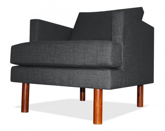Clark Arm Chair in Charcoal