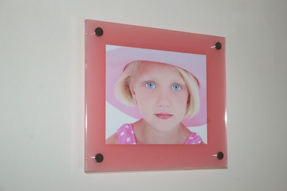 pink high gloss cheshire acrylic 10mm 16 x 20 40 x 50 cm 20 x 16 picture photo frame. Black Bedroom Furniture Sets. Home Design Ideas