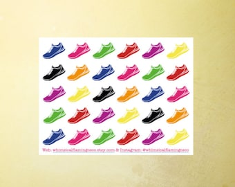 30 Sneakers/ Running Stickers