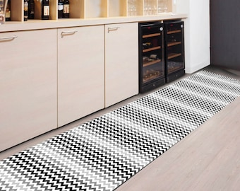 Area rug floor runner model intertwined ropes suitable for Flooring suitable for kitchens