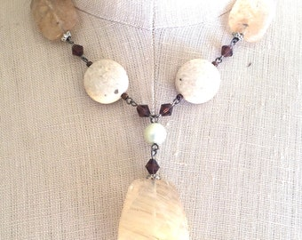 Citrate Mixed Stone Necklace