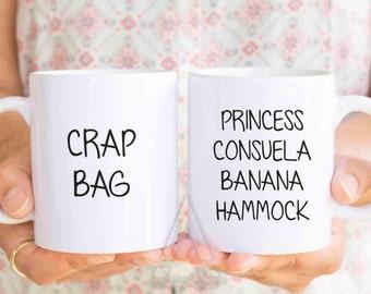 princess consuela banana hammock, Funny Couple Mugs, valentines day gift, His and Hers Coffee Mugs, anniversary gifts, couple mugs, MU208
