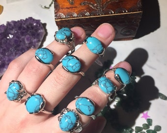 Turquoise Silver Plated Rings
