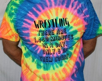 Wrestler Wrestling Coach Tie Dye T-Shirt