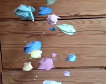 Felt Rose Mobile - Pastels