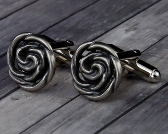 Spiral Rope Cufflinks - Spiral Rope Cuff Links - Mens Accessories - Mens Gift - Rope Jewelry - Groomsmen Gift - Gifts for Him - Mens Jewelry
