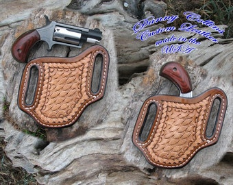North American Arms Hand Tooled Leather Holster