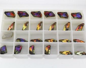 ON SALE - 6 pcs  Volcano F (18mm) Swarovski Crystal 4767 De-Art Fancy Stone