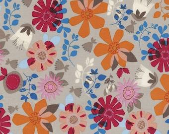 SALE 5.99 Yard - Timeless Treasures Floral C38806 Fog - FBTY - Juvenile