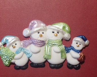 Christmas Snowman edible cupcake cake toppers decorations