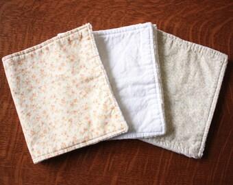 Floral burp cloths - Baby girl burp cloths - Shabby chic burp cloths - Baby girl gift