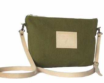 Shoulder bag/handbag Fun green Kaki