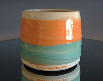 porcelain cup - i loved everything i saw!