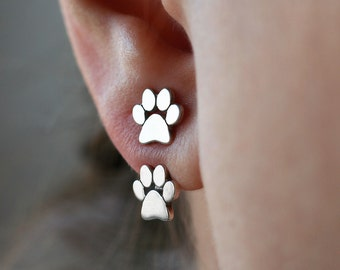 Jacket Paw Print Earring • Paw Earring • Dog Paw • Cat Paw • Paw Jewelry • Paw Print • Jacket Earring • Paw • Dog Earrings • Jewelry
