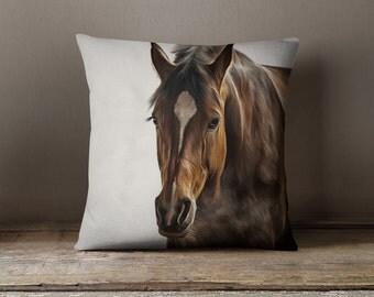 Horse Decor | Equestrian Decor | Horse Pillow | Equestrian Gifts | Equestrian Pillow | Horse Gifts for Girls | Horse Gifts