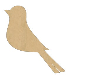 Bird Cutout Shape Laser Cut Unfinished Wood Shapes, Craft Shapes, Gift Tags, Ornaments #801 All Sizes