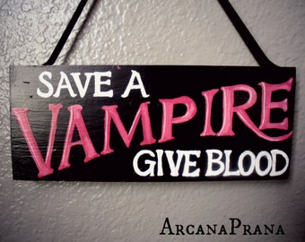 Vampire Wall Sign