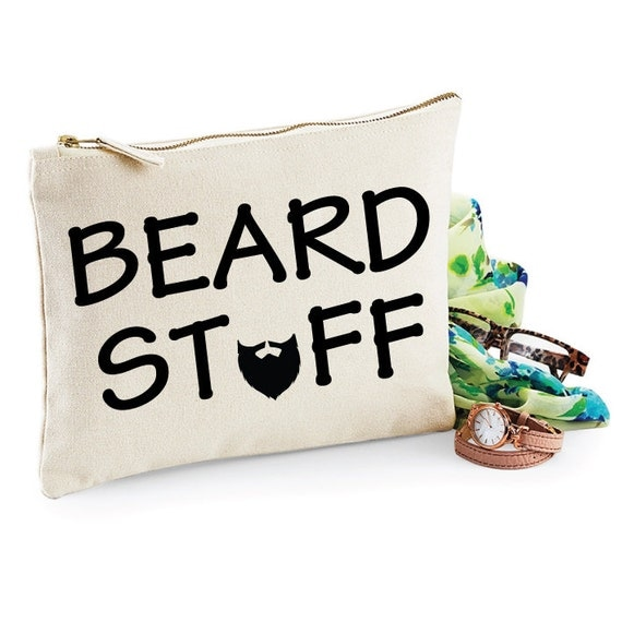 beard stuff funny toiletry bag man bag gifts for by sopinkuk. Black Bedroom Furniture Sets. Home Design Ideas