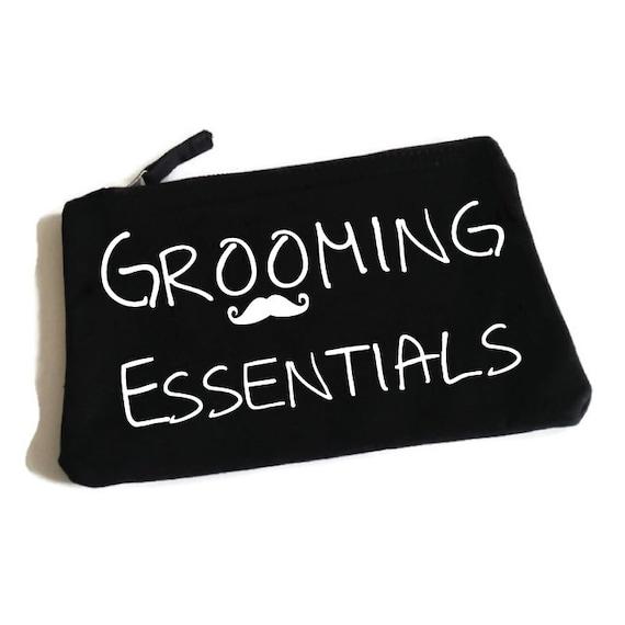 grooming essentials funny toiletry bag man bag by sopinkuk. Black Bedroom Furniture Sets. Home Design Ideas