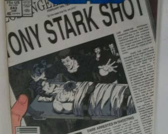 1989 Iron Man  #243  Tony Stark Shot VG-Fine Vintage Marvel Comic Book