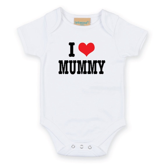 I Heart Love Mummy mam mum mama mammy Baby Grow cute heart Body Suit Baby Onesie Sleep Suit sleepwear mum to be baby shower gift new born