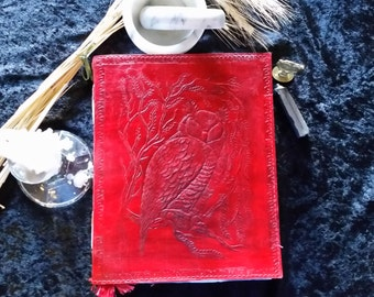 Owl Leather Bound Blank Book