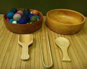 Montessori Inspired Transfer Work