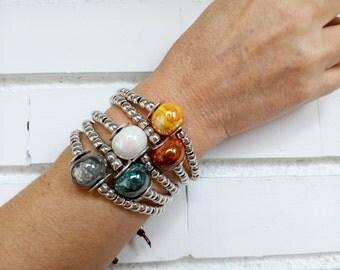 Uno de 50 Bracelet - Zamak Bracelet - Ceramic Bracelet - Women Bracelet - Beaded Bracelet
