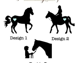 Equestrian Horse Vinyl Decal