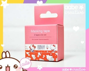 Super cute Kawaii HELLO KITTY (raspberry) washi masking tape :)