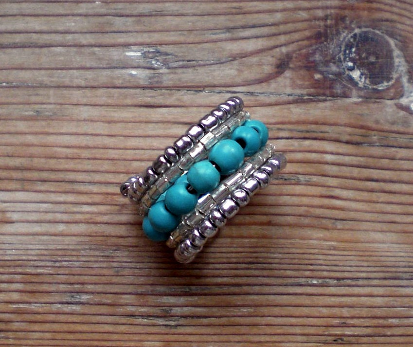 turquoise ring adjustable ring turquoise jewelry
