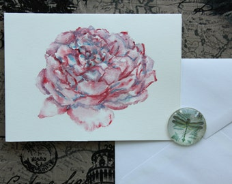 Rose- handmade card