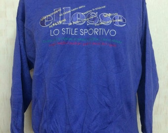 Vintage ELLESE Embroidred Sweatshirt Purple
