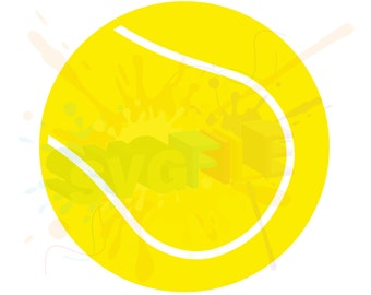 Tennis Ball SVG Files for Cutting Sports Cricut Balls Designs - SVG Files for Silhouette - Instant Download