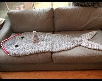 Shark fin blanket