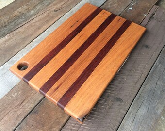 Recycled mixed timber hardwood cutting board/serving board