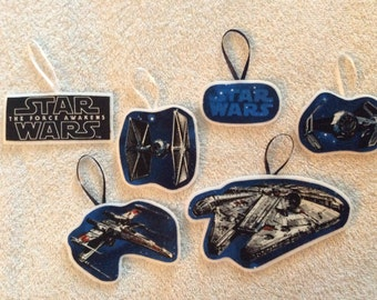 Star Wars Christmas Ornaments-Set of 6